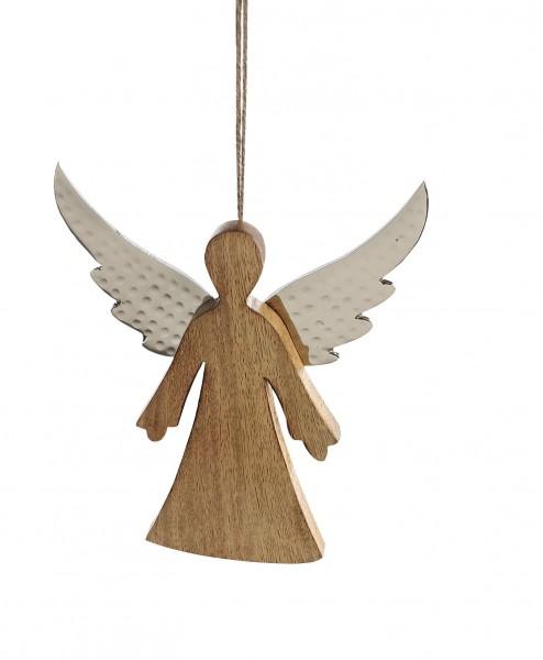Hänger Engel Audra Weihnachtsdeko Holz Alu 15 cm
