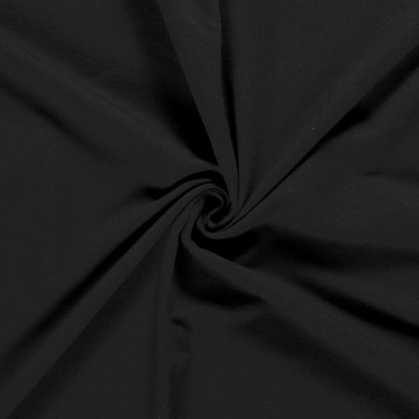 Softjersey Winterjersey schwarz Meterware 0,5 m