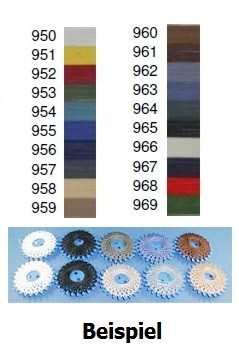 Sternzwirn 20 m in 9 Farben, 100 % Baumwolle.