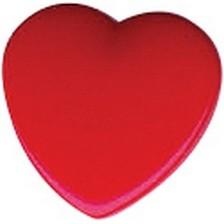 Herzknopf rot 10 mm