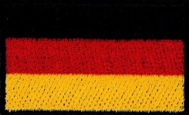 Bügelmotiv Deutschlandflagge ca. 6,5 x 4 cm.