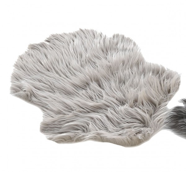 Kunstfell Lamm Lammfell grau 38 x 55 cm
