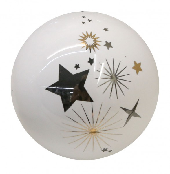 Weihnachtskugel Dekokugel Sternstunden Keramik Ø 8 cm