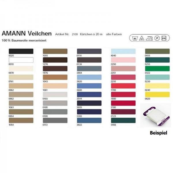 Veilchen-Stopfgarn 100 % Baumwolle<br>mercerisiert in 42 Farben