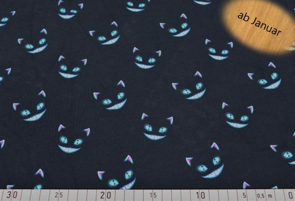 Jersey Baumwolle Katze grinsend 0,5 Meter