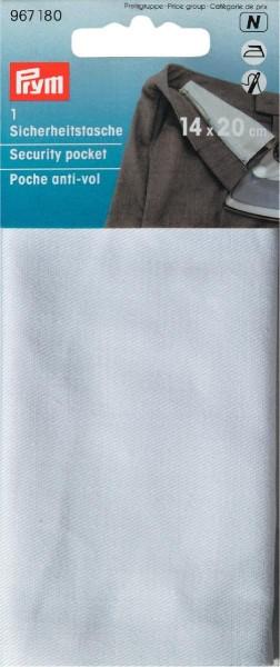 Sicherheitstasche weiß 14 x 20 cm